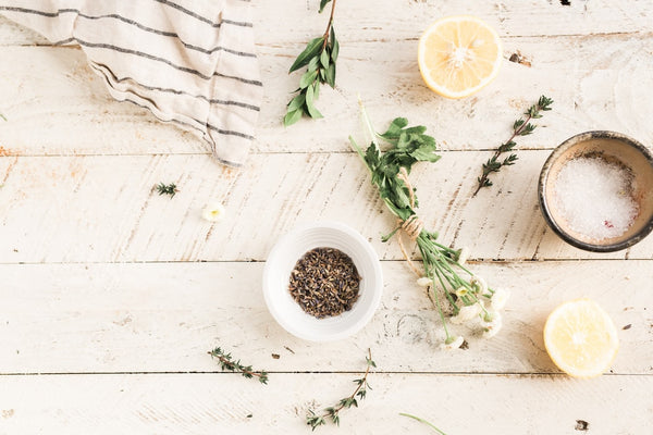 natural ingredients on table