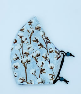 Jr. Cozy Picnic - Light Blue with Cotton flowers