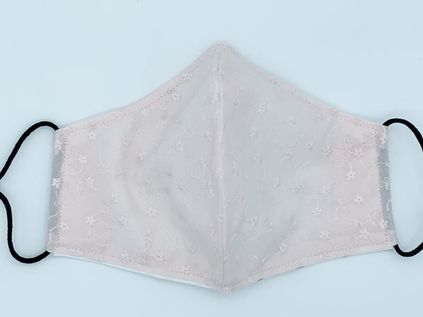 Jr. Sentimental - Light Pink Embroidered Mini Flowers