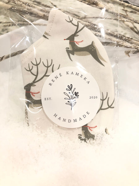 Dashing - Cream with Reindeer