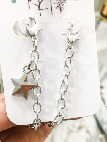 Lanyard - Silver Tone with Solid Silver Star Charm