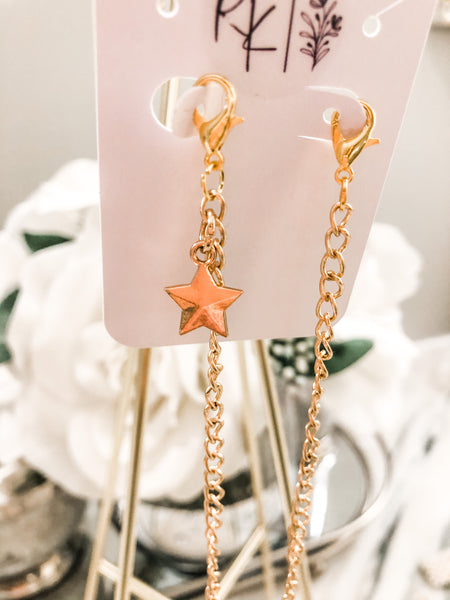 Lanyard - Gold Tone with Solid Star Charm