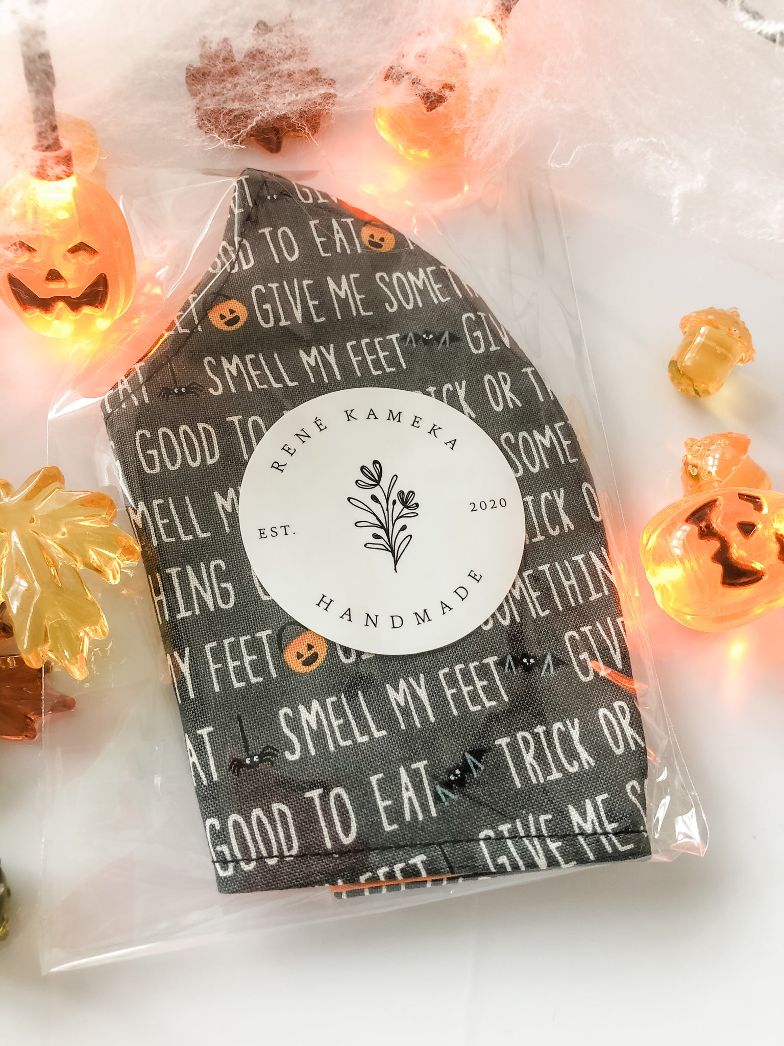 Trick or Treat!- Dark Grey with Rhyme