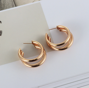 Simple Round Earrings - Simply Basy
