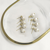Baroque Freshwater Pearls Stud Earrings - Simply Basy