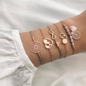 Misty Rose Bracelets Set - Simply Basy