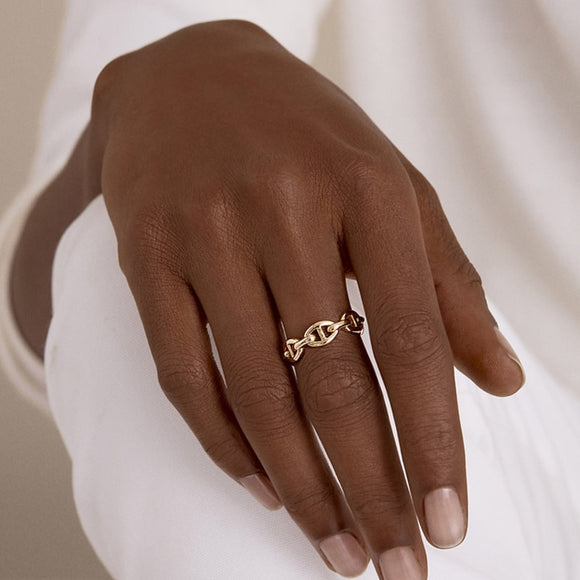 Minimal Chain Open Ring - Simply Basy
