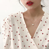 Pearl Heart Necklace - Simply Basy