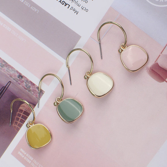 Minimalistic Vintage Earrings Earth Tone - Simply Basy