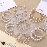 Pearl Hoop Earrings - Simply Basy