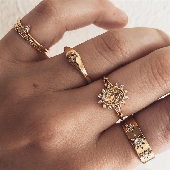 Golden Sunflower Rings Collection - Simply Basy