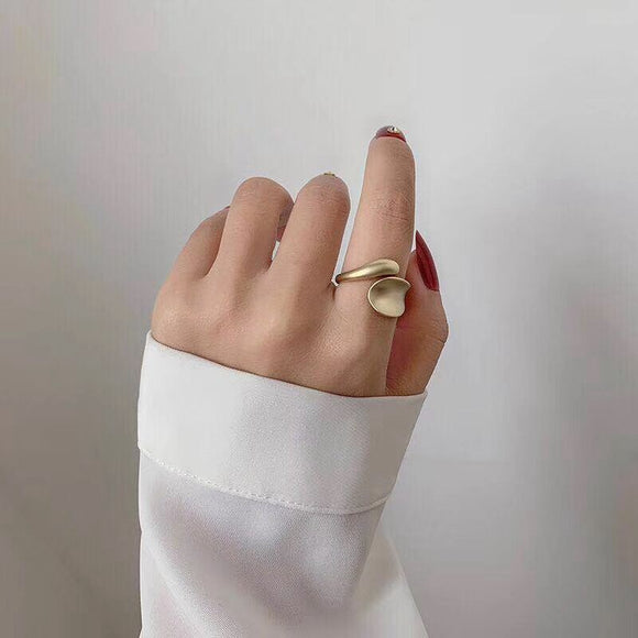 Matte Geometric Open Ring - Simply Basy