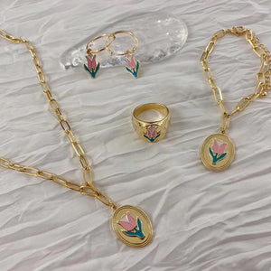 Gold Plated Tulip Set - Simply Basy