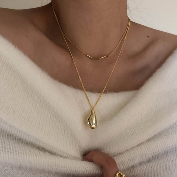 Winter Waterdrop Necklace Set - Simply Basy
