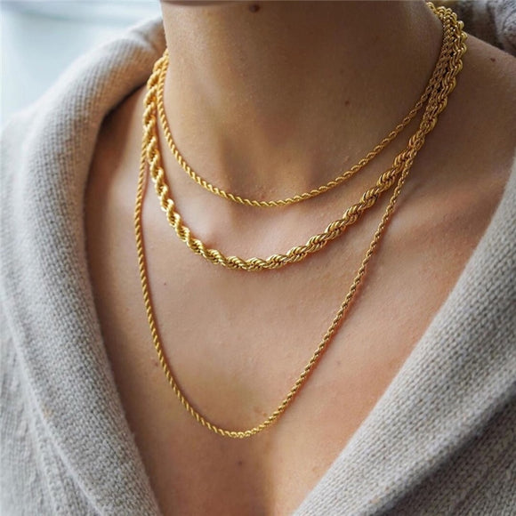 Aster Layered Necklace - Simply Basy