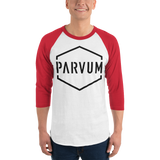 Red & White Parvum ¾ sleeve Raglan tee