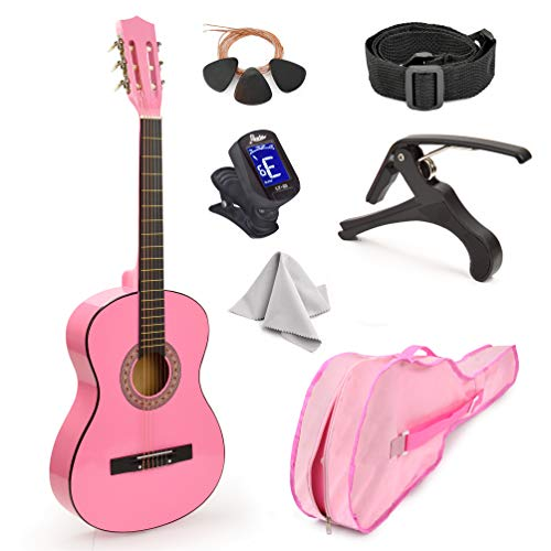 "30"" Wood Classical Guitar with Case and Accessories for Kids"