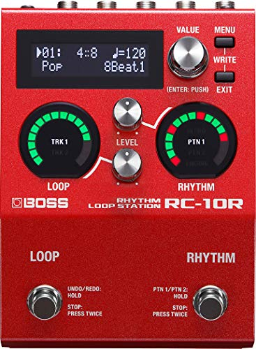 BOSS Guitar Looper Effects Pedal, Red (RC-10R)