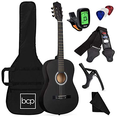 38in Beginner All Wood Acoustic Guitar Starter Kit