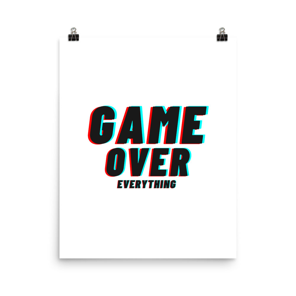 Affiche « Game Over Everything »