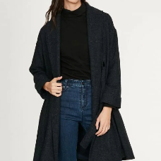 front profile , Marci Recycled Polyester Wrap Coat