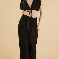full length - Nala Beach Pants in Black