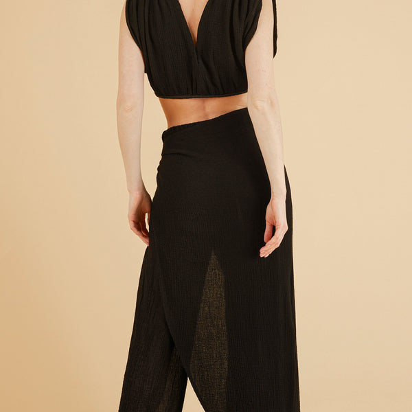 Front Profile - Nala Beach Pants in Black