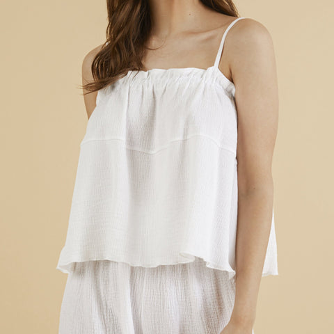 The Handloom - Ivy Top White