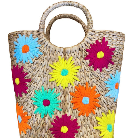 Poolside Embroidered Bucket Bag