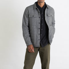 Bridge & Burn Russell Charcoal Herringbone Overshirt