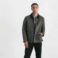 Bridge & Burn Arthur Dark Forest Quilted Jacket