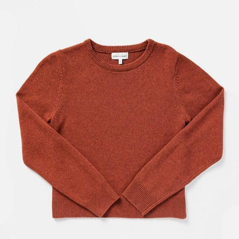 Bridge & Burn Remy Rust Heather Pullover Sweater