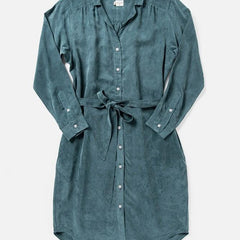 Bridge & Burn Emery Pewter Shirtdress