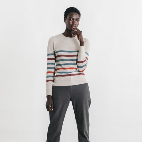 Bridge & Burn Tate Natural Multi Stripe Sweater
