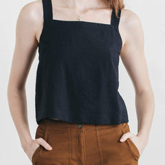Bridge & Burn Sibyl Navy Cropped Top