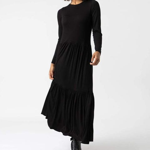 GREENWICH DRESS - SLEEVE BLACK