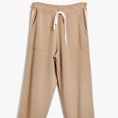 Camel, EASY FIT CROPPED JOGGERS