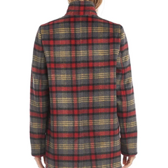 back profile,Plaid Jacket