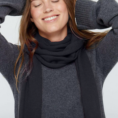 Cashmere Solid  Scarf -black