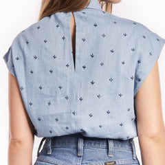 back profile, Baby Cacti Chambray Blouse