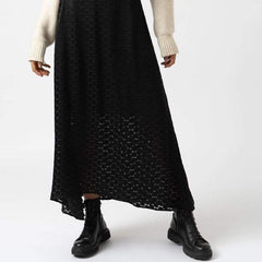 close up, SUTTON SKIRT - BLACK BURNOUT