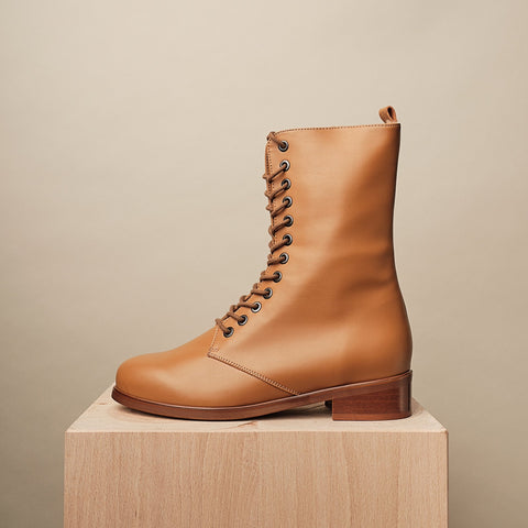 GINSBURG WINTER LACE-UP BOOT - Natural