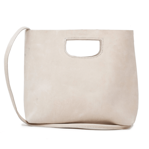 ABLE beige sustainable leather handbag