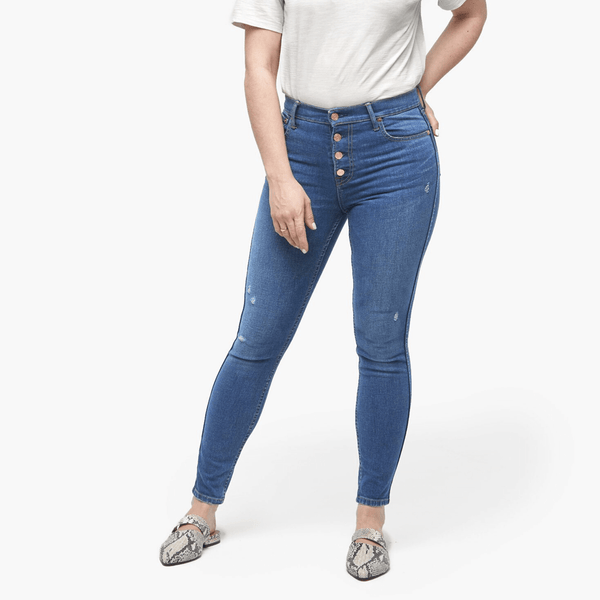 ABLE The Delta Button Front Jeans