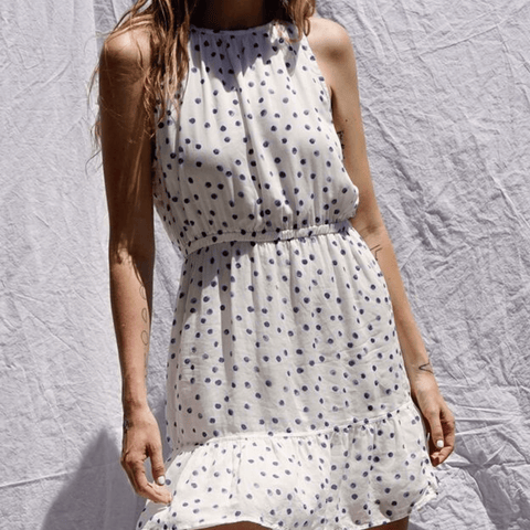 Bella Dahl Shirred Halter Dress