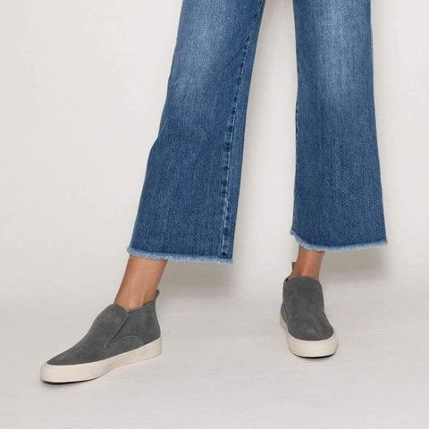 SeaVees Womens Huntington Middie Grey Slip-on Sneakers