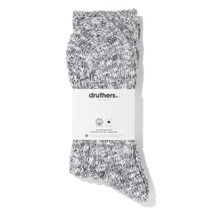 Drutherswear Organic Cotton Ribbed Slub Men's Crew Socks