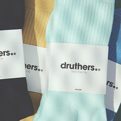 Drutherswear Everyday Organic Cotton Men's Crew Socks
