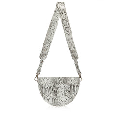 JOANNA MAXHAM Lune Saddle Bag (Black & White)