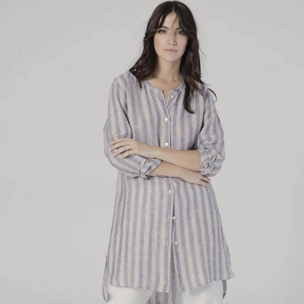 Striped Linen Shirt Dress